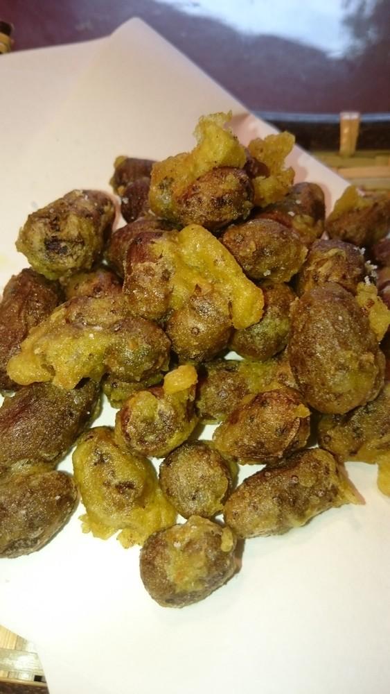 むかごのフリッター(カレー風味)