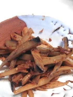 レンコンとジャコの味噌きんぴら