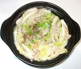 白菜と豚肉と生姜のミルフィーユ鍋♪簡単