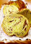 【トヨ型小】抹茶粒あんマーブルパン