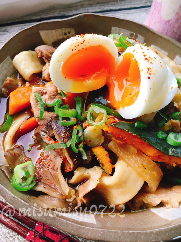 自家製麺でモチモチ南瓜のほうとう(動画有