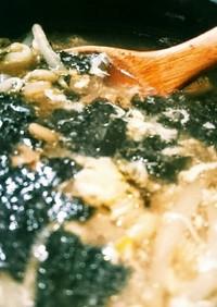 節約♪もやしと卵の中華風スープ