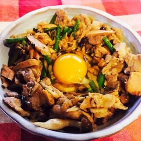 【筋肉飯】豚肉とツナのスタミナ焼き