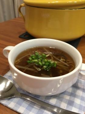 あごだしのもずくスープ
