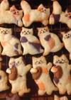 三色がキュートなミケ猫クッキー