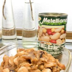 5分で簡単イタリアンな豆で、和風な味噌豆