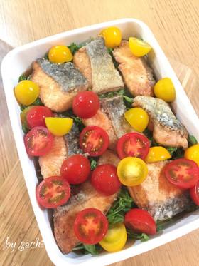 【作り置き】鮭と豆苗の南蛮漬け