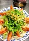 やみつき!水菜とトマト香ばしじゃこサラダ