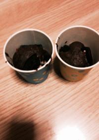ストロベリーオレオのチョコカップケーキ