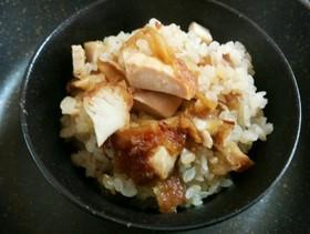 残った唐揚げは炊き込みご飯❤鍋編めんつゆ