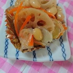 お弁当。蓮根と大豆のマリネ