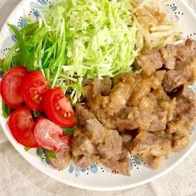 豚肩ロース肉๑おろし玉ねぎポン酢ソース