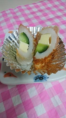 お弁当。竹輪にきゅーりチーズ