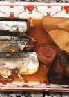 圧力鍋で秋刀魚と海老芋の梅煮
