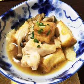 鶏胸肉&厚揚げのトロトロ煮♡