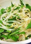 もやしと水菜のナムル風サラダ