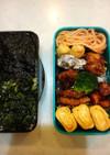 野菜嫌い中学生男子弁当(パパ作3)