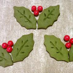 抹茶クッキー☆クリスマス柊バージョン