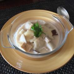 超簡単☆里芋と椎茸と油あげ♡みるくスープ