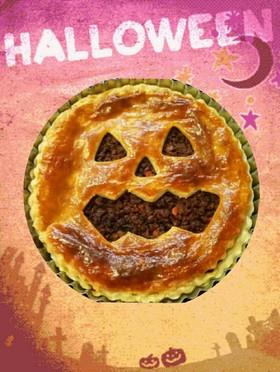 ハロウィンに♡おばけのミートパイ