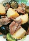 だしの素で簡単!里芋となすと豚肉の煮物