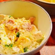 豆腐でカサ増し!節約♪味醂で優しい親子丼の写真