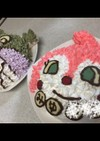 ドキンちゃんケーキ ♡ 簡単キャラケーキ