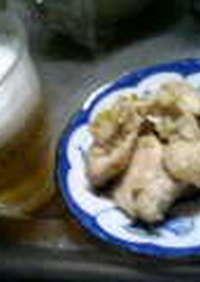 簡単☆長葱ニンニク鶏肉焼き<ゴマ油風味>