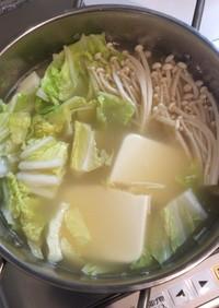 ミツカン「こなべっち」de鶏団子鍋