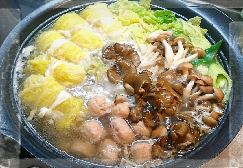温活☆餅豆腐ロール白菜&茸の鶏塩麹鍋♪