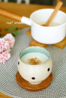 生姜・シナモン入り♪甘酒ミルク♡