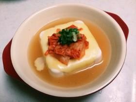 ★超簡単♪キムチーズ豆腐★