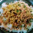 納豆ふりかけマヨネーズでご飯♡朝食ランチ