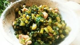 無限レシピ☆大根の葉と鶏肉の炒め物