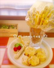 トースターで簡単♡豆腐でポンデスティックの写真