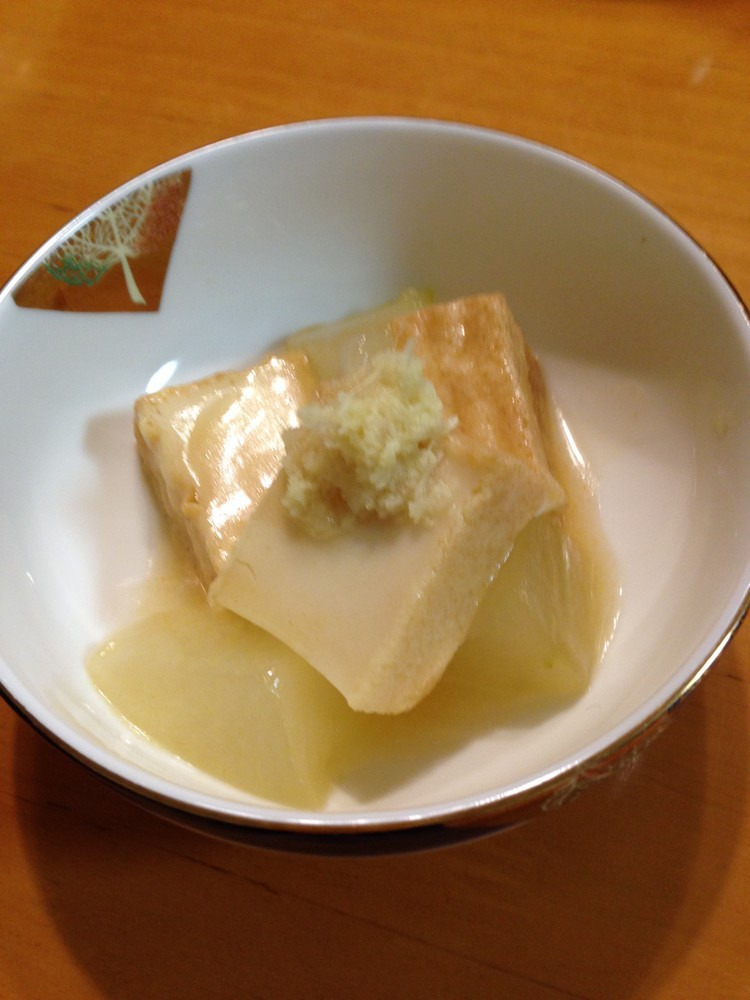 白だしで簡単!冬瓜と絹厚揚げの煮物