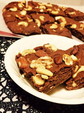 糖質制限◆型いらずの天板ココアケーキ
