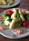 温野菜の明太マヨソース