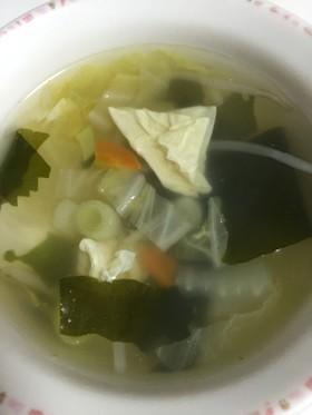 ダシダで野菜たっぷりスープ