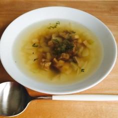 牛肉と玉葱とエリンギのスープ