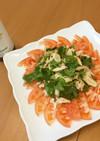 パクチーと蒸し鶏の簡単ヘルシーサラダ
