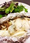 トースターで♡白身魚ときのこのホイル焼き