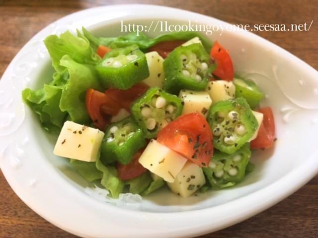 体にやさしい☆オクラのネバネバ健康サラダ