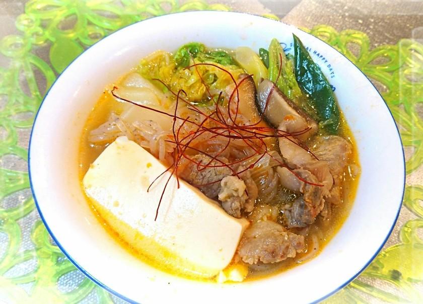 裏技で☆牛スジ&ダシダの旨辛美容スープ♪