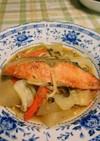 フライパンで鮭と白菜のちゃんちゃん焼き風