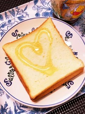 蜂蜜かけるだけ…食パン☆