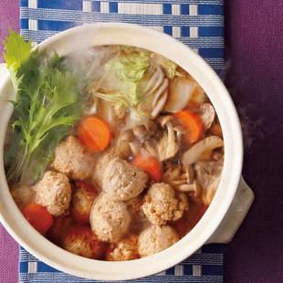 豆腐鶏だんごのコクだし寄せ鍋