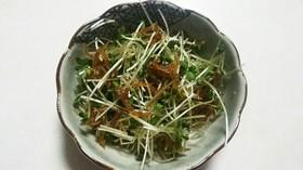 ブロッコリースプラウトサラダ☆小女子佃煮
