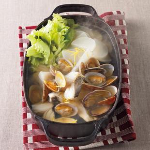 魚貝とレタスのあっさりゆず塩鍋