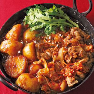 鶏じゃがキムチすき焼き鍋